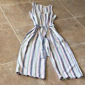 cloth & stone, cropped raw hem jumpsuit, NWOT
